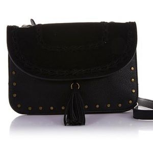 Handbags - Curations Whipstitch Faux Suede Crossbody Bag